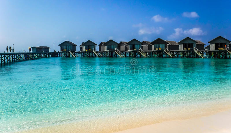 Bangalow on the Ocean. Maldieve stock photography