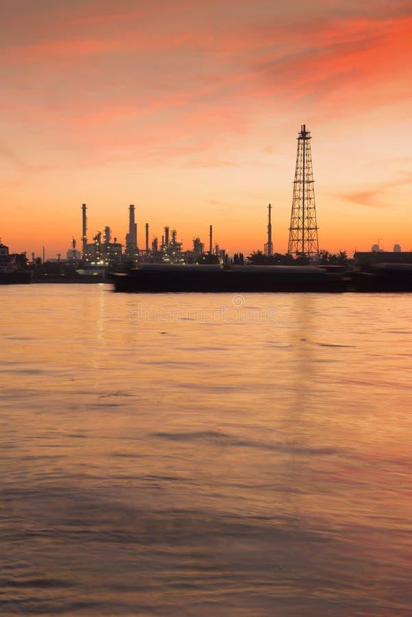 Bangchak Petroleum`s oil refinery, Phra Khanong District, Bangko. K, Thailand royalty free stock photo