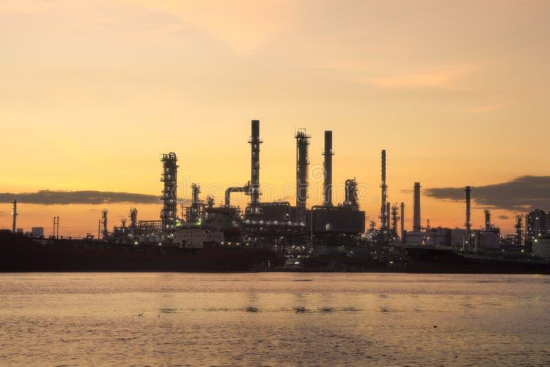Bangchak Petroleum's rafineria ropy naftowej, dystrykt Phra Khanong, Bangkok, Tajlandia fotografia stock