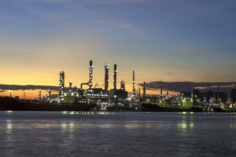 Bangchak Refinery View of Chao Phraya River Samut Prakarn zdjęcie royalty free