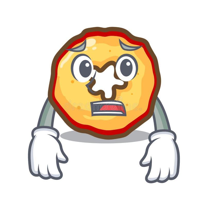 Bange appelspaanders die op karakterraad worden voorgesteld royalty-vrije illustratie