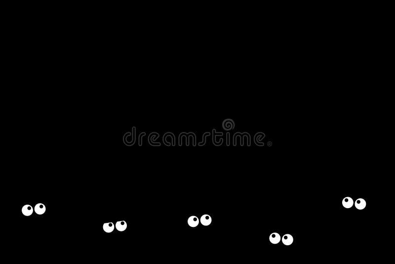 Bange dark vector illustratie