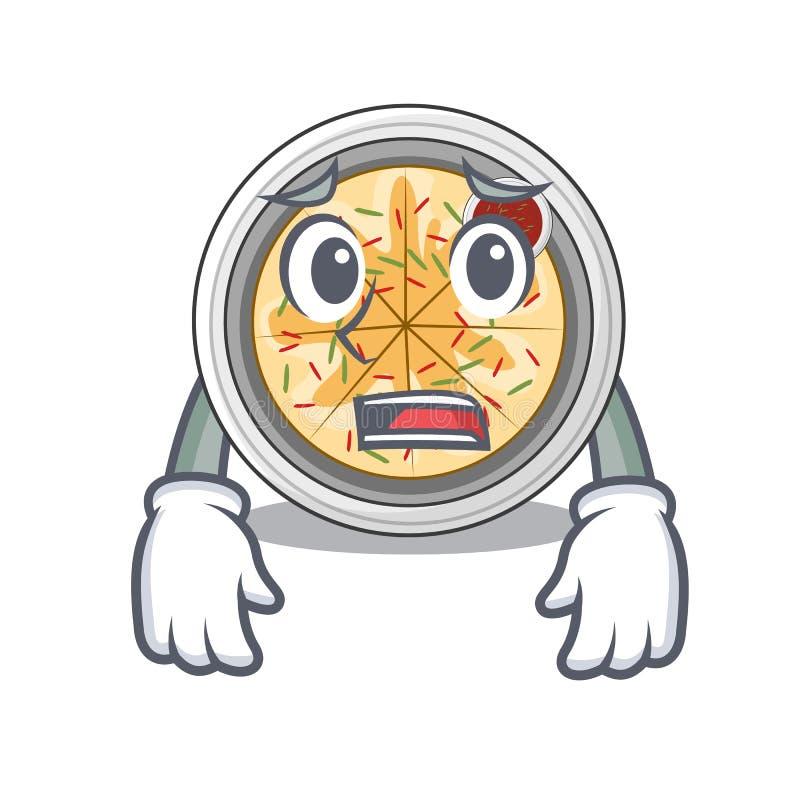 Bange die buchimgae met in de mascotte wordt geïsoleerd royalty-vrije illustratie