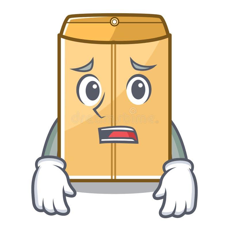 Bange envelop mailer in de mascottekast stock illustratie