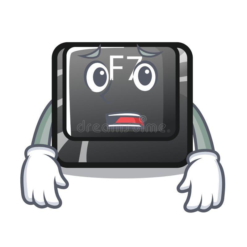 Bange F7-knoop die in computerbeeldverhaal wordt geïnstalleerd stock illustratie