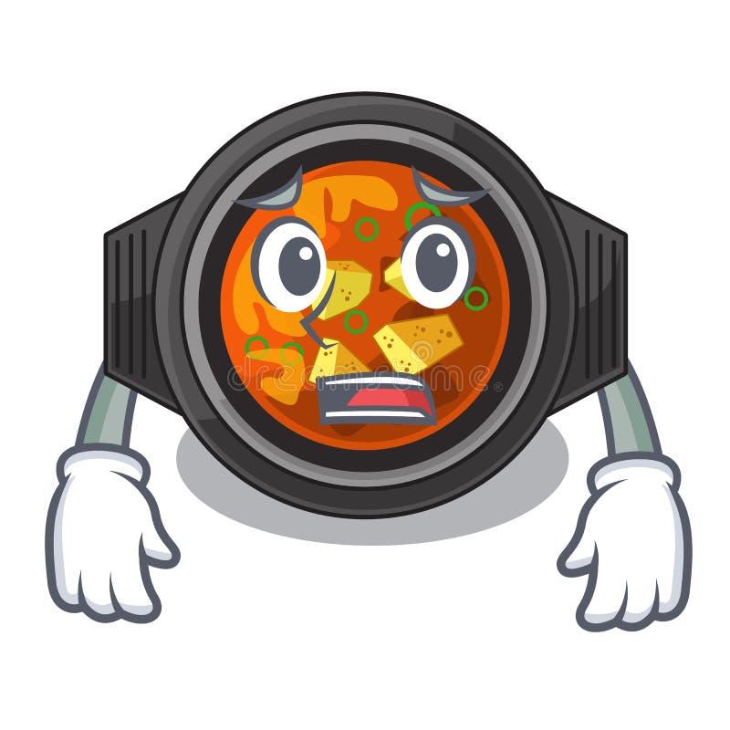 Bange kimchi tighe in de beeldverhaalvorm vector illustratie