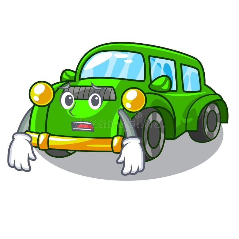 Bange klassieke auto in de vormmascotte stock illustratie
