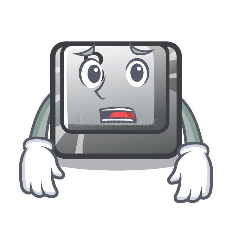 Bange knoop B op een mascottetoetsenbord royalty-vrije illustratie