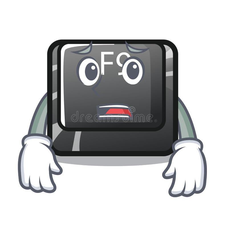 Bange knoop f9 in de karaktervorm vector illustratie
