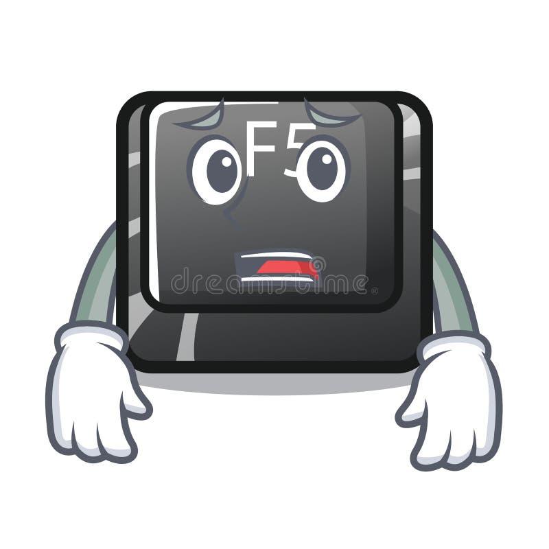 Bange knoop f5 in het vormbeeldverhaal vector illustratie
