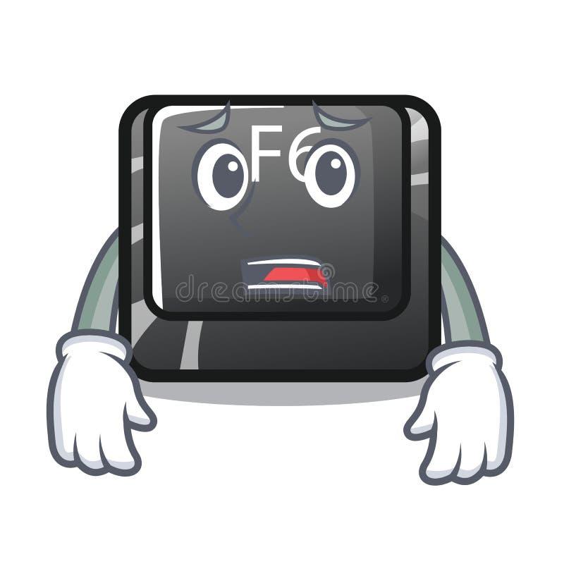 Bange knoop f6 op het vormbeeldverhaal stock illustratie