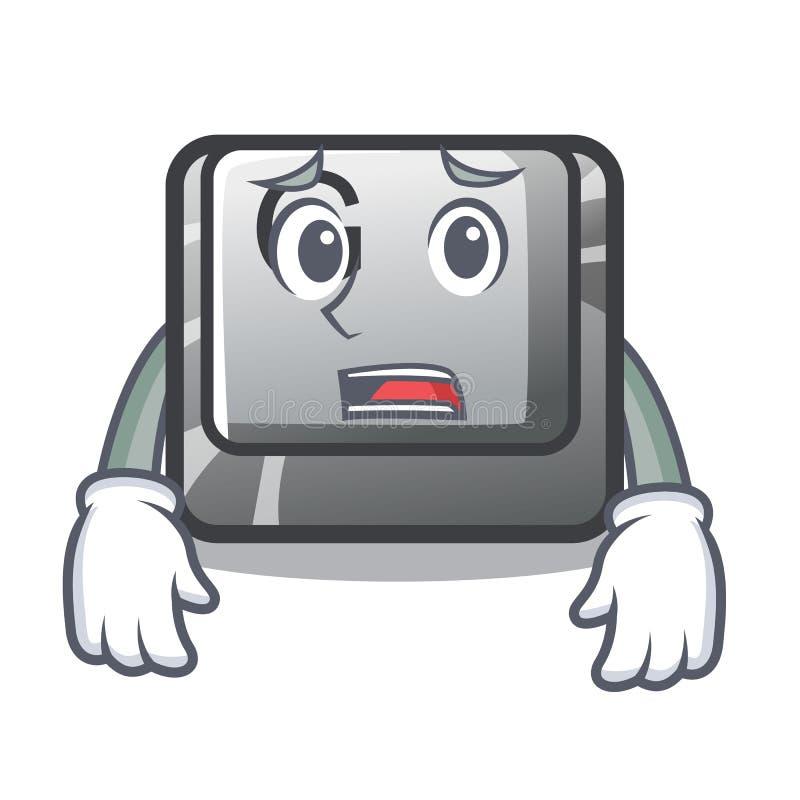 Bange knoop G in de karaktervorm vector illustratie