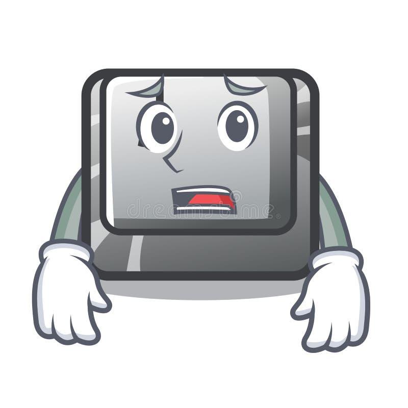 Bange knoop J op een computerkarakter royalty-vrije illustratie