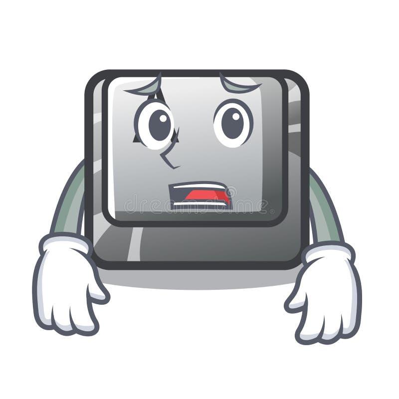 Bange knoop A op een karakter komputer stock illustratie