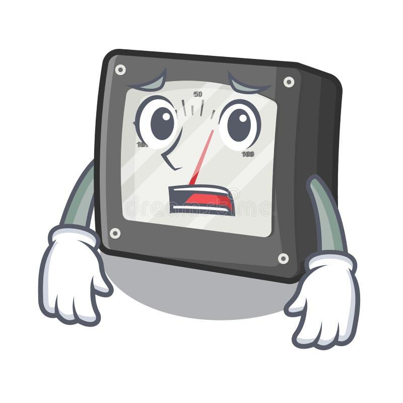 Bange meterampère in de karakterdoos vector illustratie