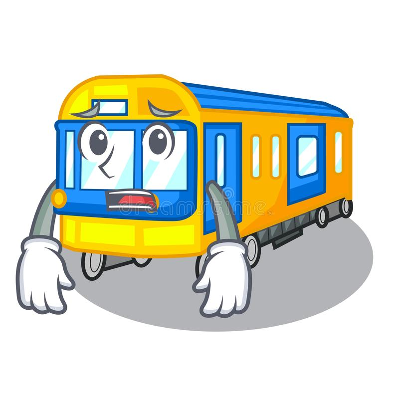 Bange metro die in het beeldverhaal wordt geïsoleerd royalty-vrije illustratie