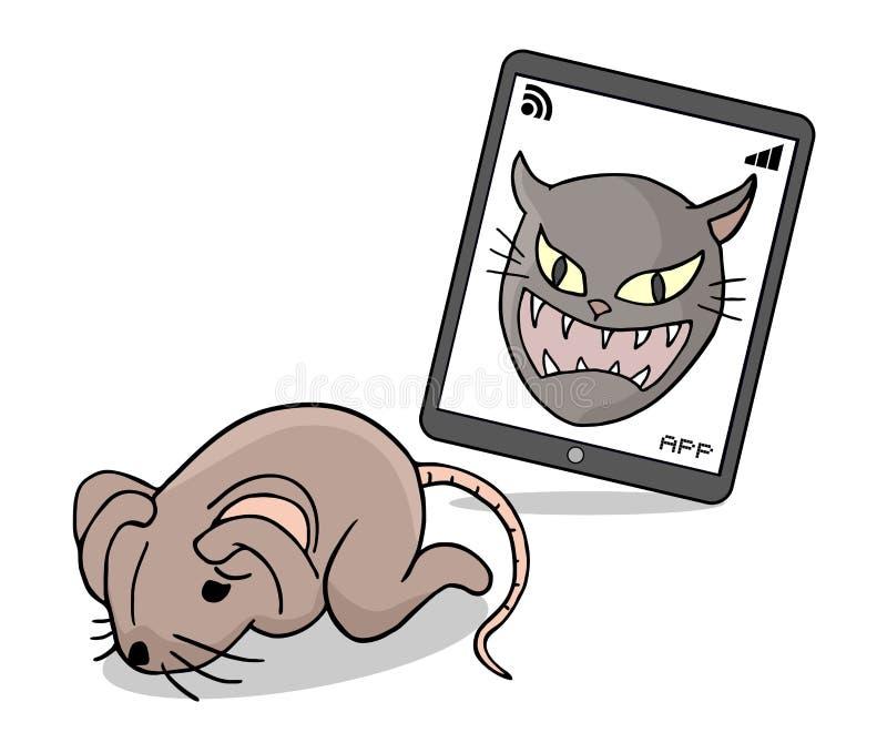 Bange rattenillustratie stock illustratie