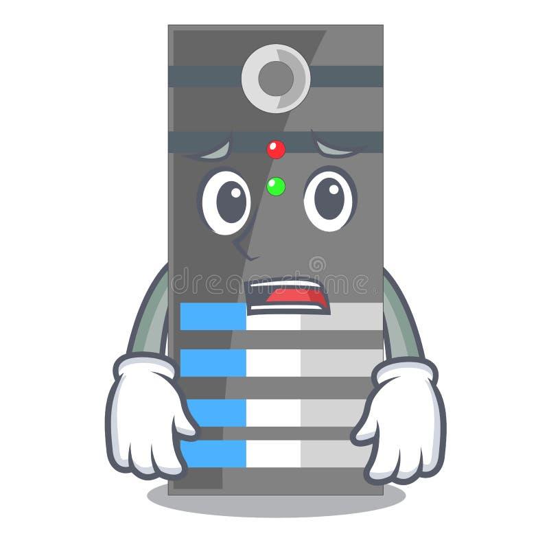 Bange servergegevens in de beeldverhaalvorm stock illustratie