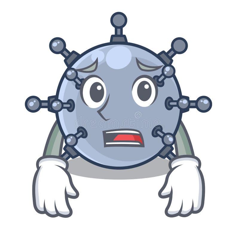 Bange stuk speelgoed mijn onderwaterkarakters in lijsten vector illustratie