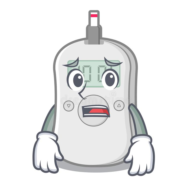 Bange van het de machinebeeldverhaal van de diabetescontrole de geneeskundedoos stock illustratie