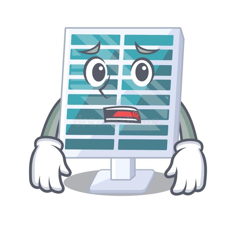 Bange zonnepanelen op de mascottedaken vector illustratie