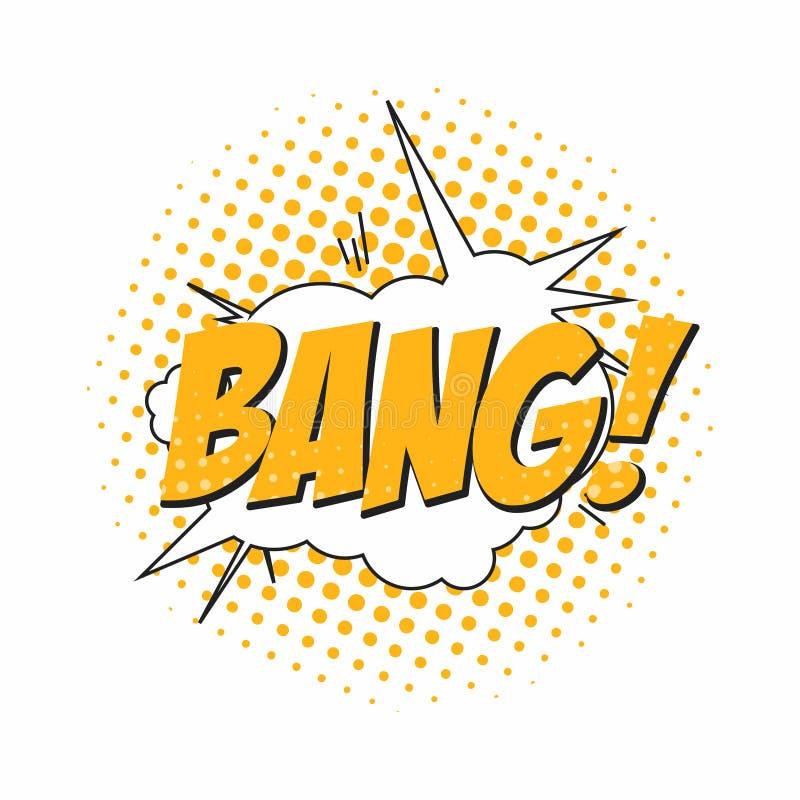 bangers Шумовой эффект комика, пузырь речи в стиле искусства шипучки Шаблон предпосылки комика для диалога бесплатная иллюстрация