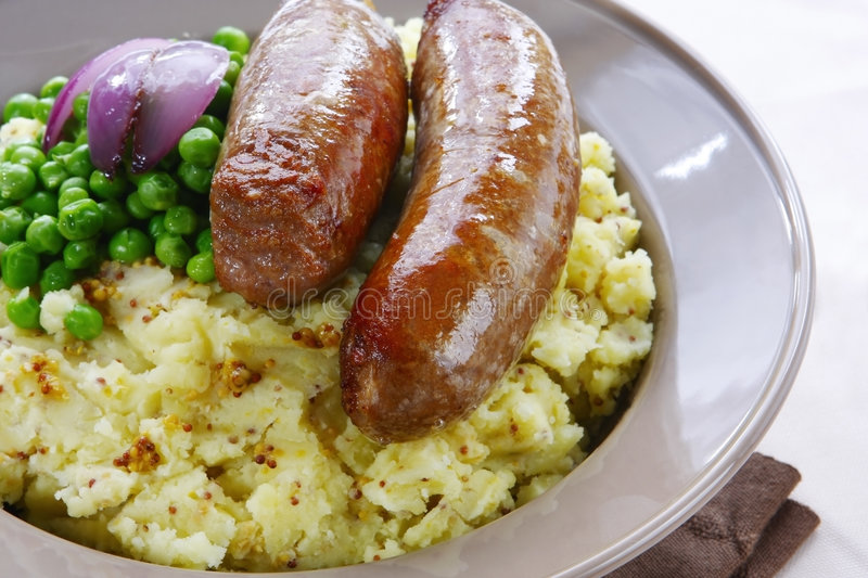 Download Bangers and Mash stock image. Image of traditionally, snap - 5762483