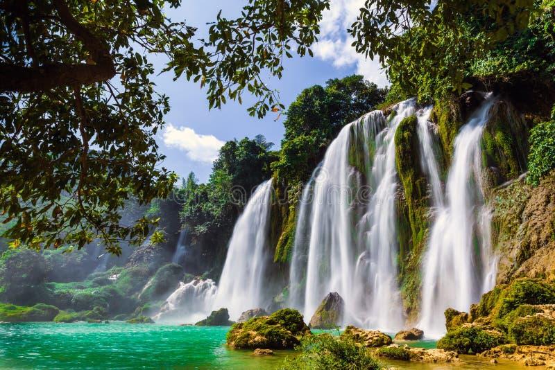 Bangioc瀑布在Caobang,越南 库存图片