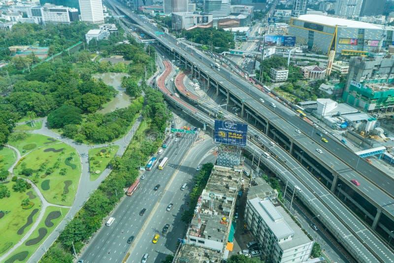Bangkok är den största staden i Thailand med 7,02 miljon inhabi fotografering för bildbyråer
