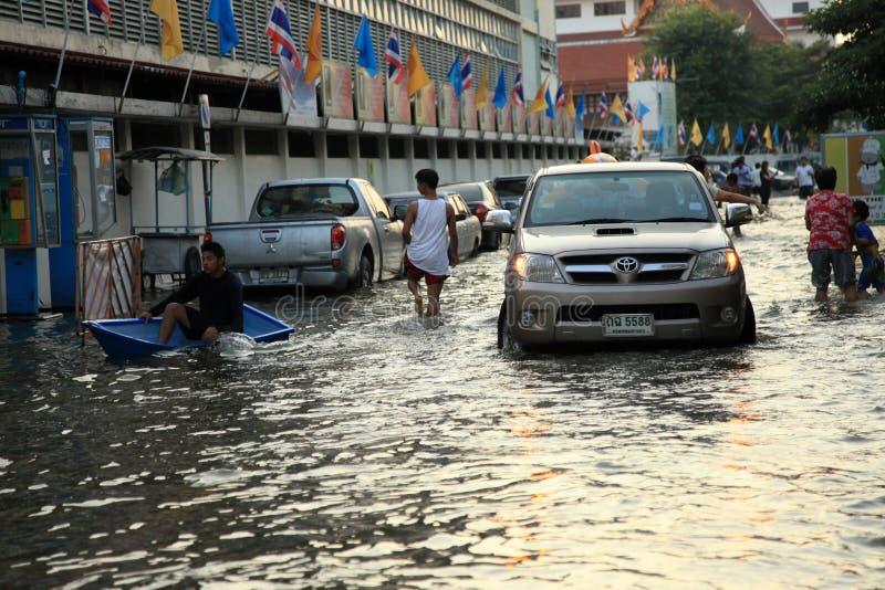 bangkok översvämning thailand royaltyfri fotografi