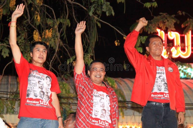 BANGKOK - 10. DEZEMBER: Rote Hemd-Protest-Demonstration - Thailand stockfotografie