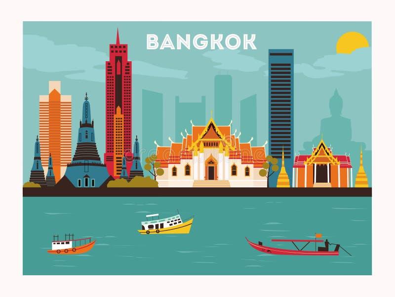bangkok illustrazione vettoriale