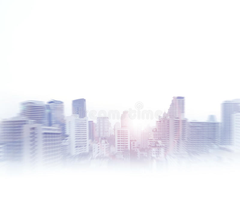 Bangkok abstract view. Business concept. Image isolated on white stock photography