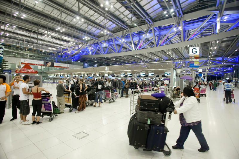 Download Bangkok airport editorial image. Image of passengers - 23371310