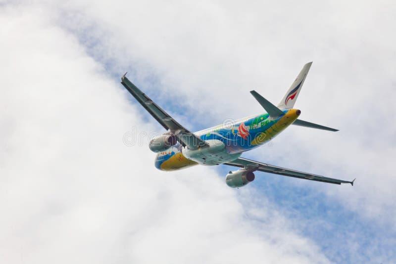 Bangkok Airways surfacent en ciel photo libre de droits