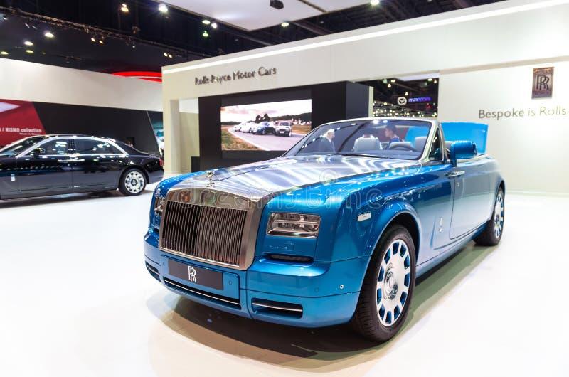 BANGKOK - 3. APRIL: Rolls Royce auf der Bühnenshow im 36. Bangkok internationales Motorshow, im April 3, 2015 in Bangkok stockfotografie
