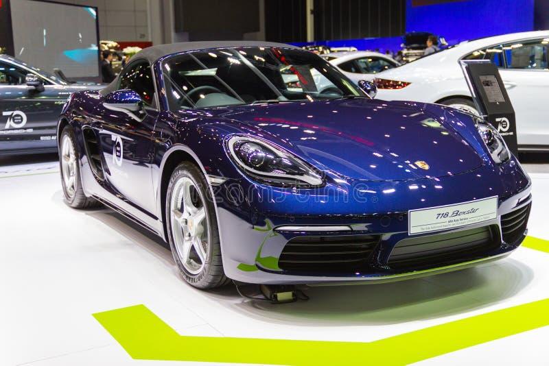 BANGKOK - 22. AUGUST 2018: Autoshow Porsche-panamera 4s an den Automobilausstellungen lizenzfreie stockfotos