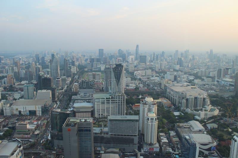 Bangkok bij de hoogte van het vogel` s oog royalty-vrije stock afbeeldingen