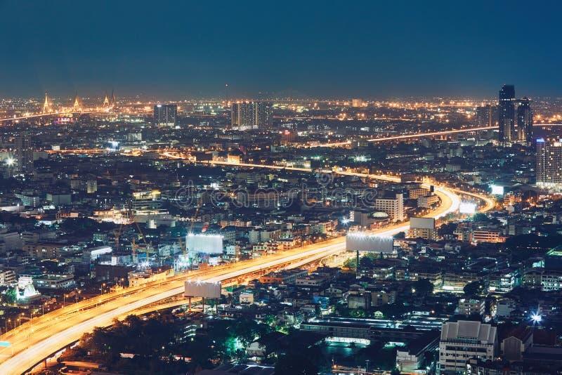 Bangkok bij de nacht stock fotografie