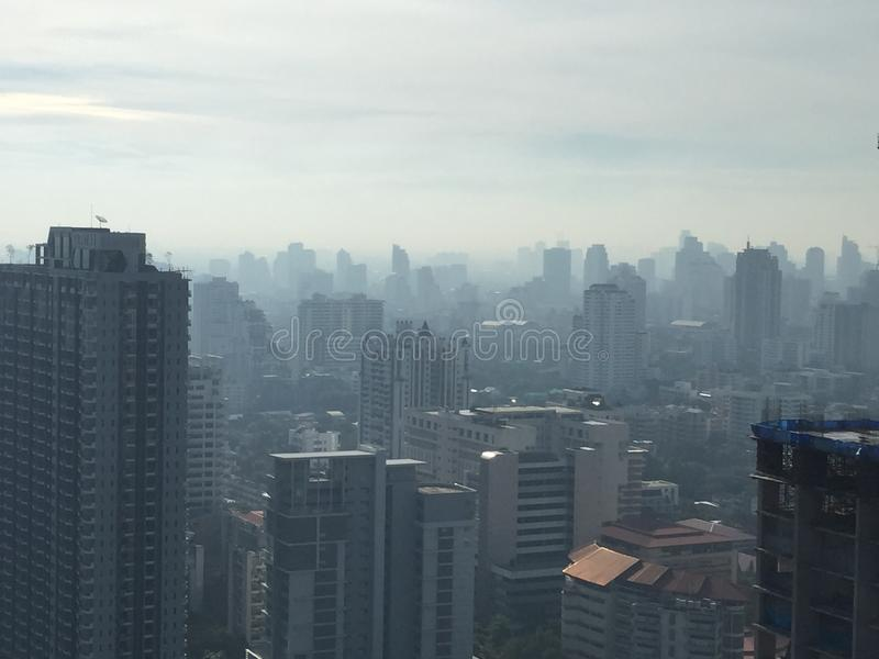 Bangkok brumeux photo libre de droits