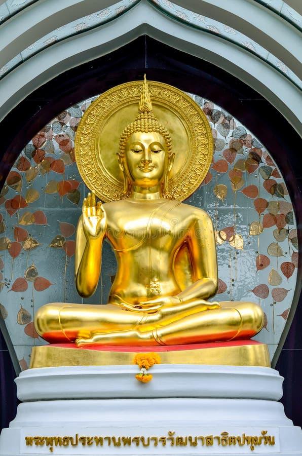 bangkok buddha guld- thailand arkivfoto
