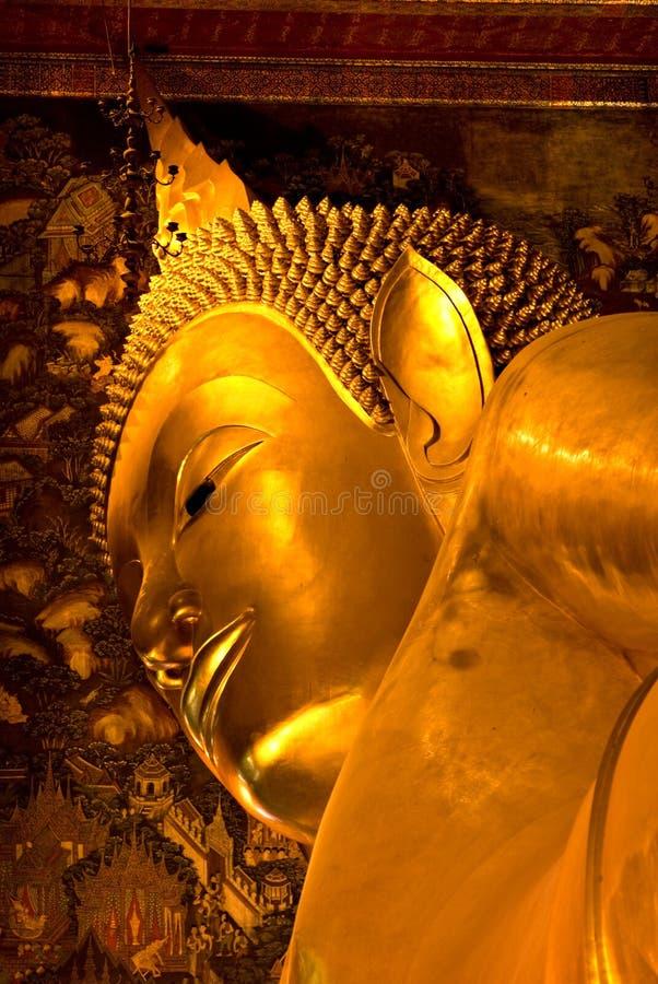 bangkok buddha po tempelthailand wat arkivbild