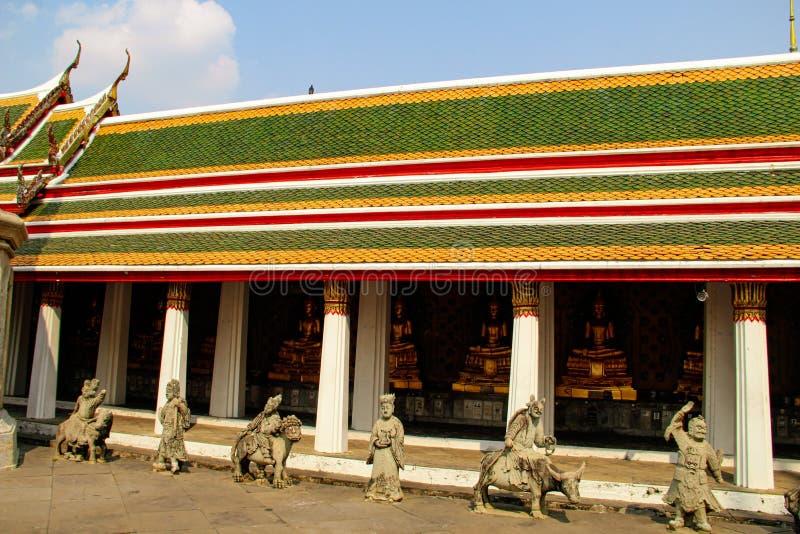 bangkok buddistiskt tempel thailand fotografering för bildbyråer