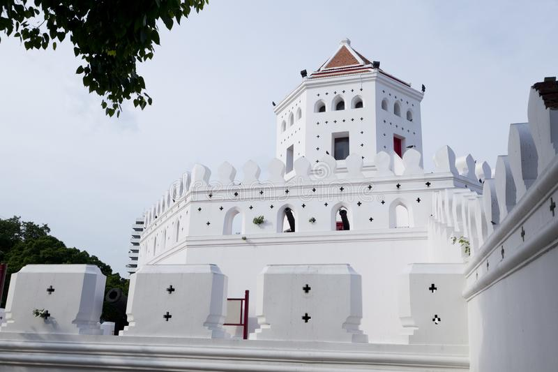 bangkok budował fortów betonowych forty heksagonalnego i królewiątka modernizaci jeden phra rama królowania kształt sumen ximpx T obraz stock