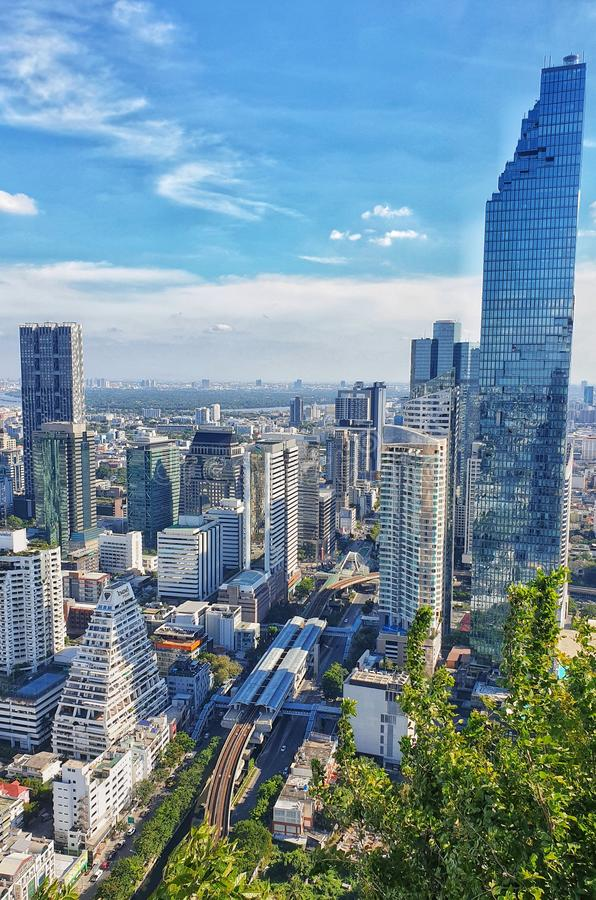 Bangkok building royalty free stock photos