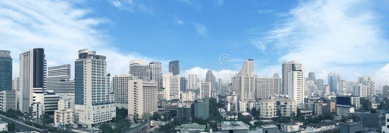 Bangkok business center panorama view. royalty free stock photography