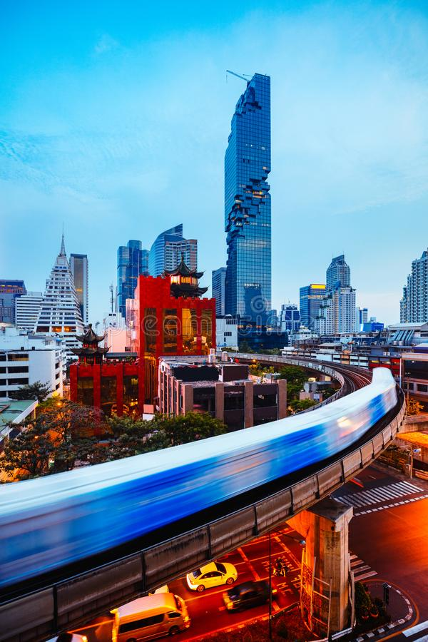 Bangkok business district royalty free stock images
