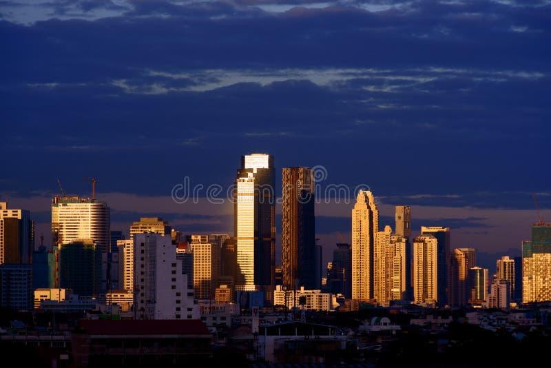 Bangkok Business District at Dusk