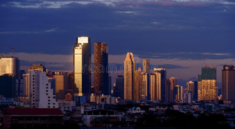 Bangkok Business District At Dusk Editorial Photo