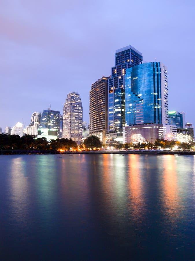 Download Bangkok City Downtown At Night Stock Image - Image: 25012231